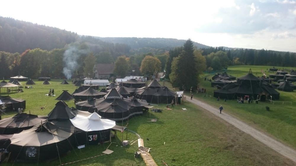 Blick über das Zeltlager