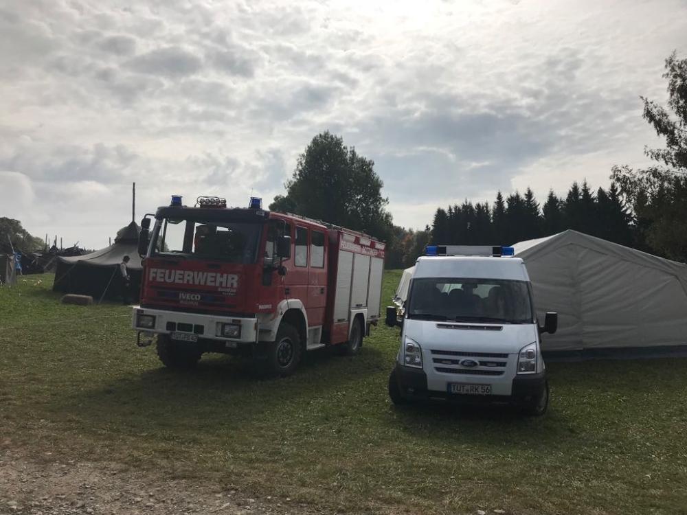 Bereitstellung Feuerwehr & DRK
