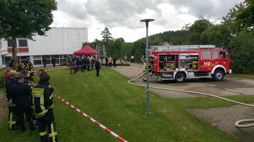 Löschangriff Feuerwehr Aldingen