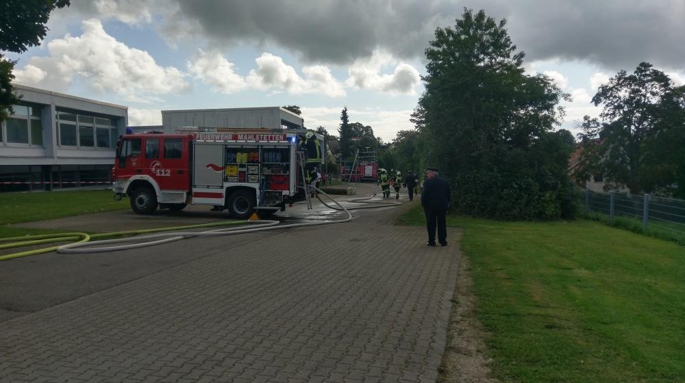 Löschangiff Feuerwehr Mahlstetten